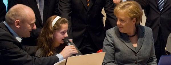 Angela Merkel zur Cebit 2010