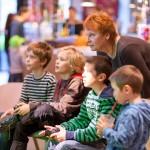 Auch für die größeren Kinder gab es spannende Spiele zum Ausprobieren