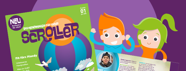 SCROLLER ist da – das Medienmagazin für Kinder