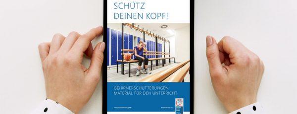 """Digitales Unterrichtsmaterial für die Initiative """"Schütz Deinen Kopf!"""""""