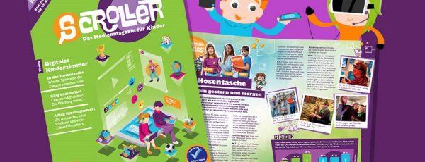 Digitales Kinderzimmer – die neue Ausgabe von SCROLLER!
